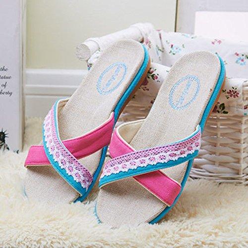 Colores Fresco C Y Para Con Cama Mujeres Helado Cómodas En Oficina Zapatillas De Suelo Zapatillas De Ropa Los Las Lino Hombres 5 De pq41wxHyC