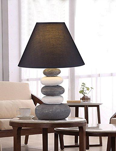 Tischleuchte Keramische Tischlampe Europäische Warm Schlafzimmer Nachttisch Schreibtisch Lampe Grau Stoff Tischlampe Nachttischlampen