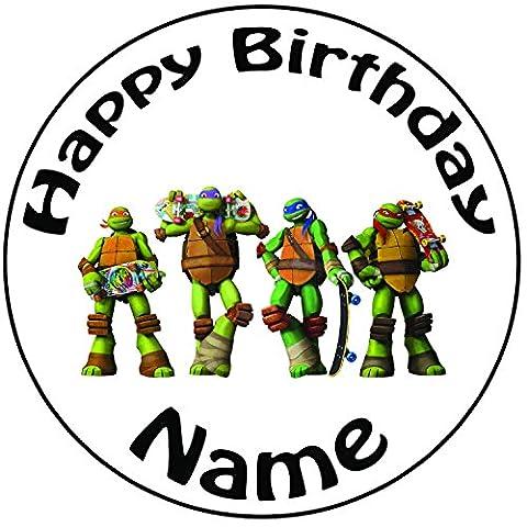 personalisierbar Teenage Mutant Ninga Turtle Skate Cake Topper, einem vorgeschnittenen