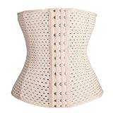 #2: Grasshopr - Waist Trainer Trimmer and Slimming Corset/ 3 Hooks Girdle with Spiral Steel Bone (Beige Color)