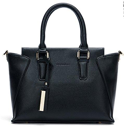 Xinmaoyuan Borse donna Portable Borsa da donna semplice spalla borsa Messenger Bag Ali Nero