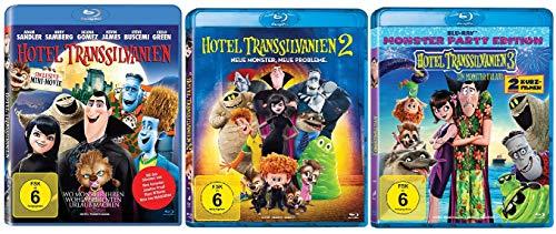 Preisvergleich Produktbild Hotel Transsilvanien Teil 1+2+3 im Set - Deutsche Originalware [3 Blu-rays]