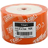 50-Pack Titan DVD-R 4.7GB 16X Branded Blank DVDR Media