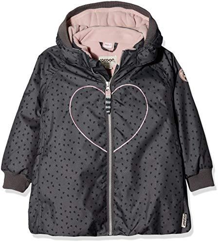 Racoon Mädchen Bitten Heart Winterjacke (Wassersäule 9.000) Jacke, Mehrfarbig (Blackened Pearl Bla), 122 - Pearl Mädchen Jacke