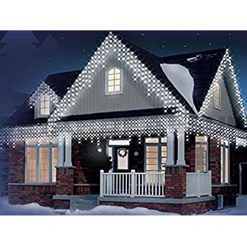 Icicle lights 220 led bright white indoor outdoor christmas lights bravich indoor outdoor 240 white led icicle lights workwithnaturefo