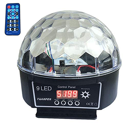 Kristall Magic Ball Led Bühne Lampe 7 Sound Control Modi 9 Farben 9 Watt Bühnenbeleuchtung Disco Laser Licht Party Lichter Lumiere Laser
