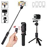 Foretoo Selfie Stick Waterproof Tripod Stand Kit with Bluetooth Remote Extendable Aluminum Alloy