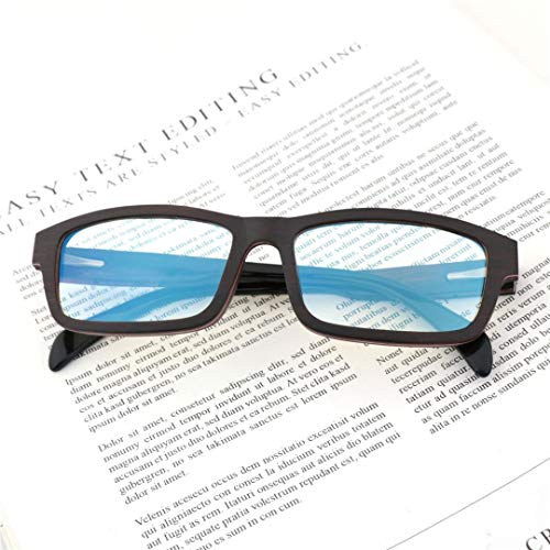 BAACHANG Unisex Square Retro Wooden Brillen, Strahlenschutz Blu-ray (Farbe : Sunglasses-c)