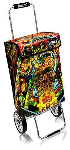 James Einkaufstrolley Design PINBALL ROCKS deluxe, moderner Einkaufswagen, bunter Lifestyle Shopper, Trolly, Rollkoffer, 40kg Tragkraft, klappbar, made in EU!