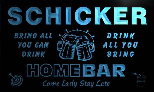 q39784-b-schicker-family-name-home-bar-beer-mug-cheers-neon-light-sign