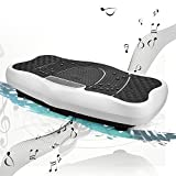 Beautytalk Vibrationsreduzierungsmaschine vibrationsplatte Fitness LCD-Display Bluetooth-USB Gewichtsverlust-Gerät schüttelt und Stehend auf Abnehmen Fett (DE Lager) (Weiss)