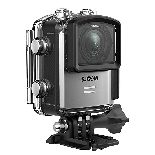 Underwater Camera, SJCAM M20 4K 16MP Wifi Action Camera, Remote Control/Gyro Stabilization/Distortion Correction/Sony Sensor, Waterproof Case & Accessories Included (Silver)