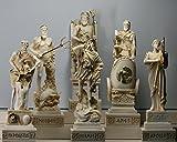 6grecque Dieux Zeus Poseidon Apollo Hermes Hephaestus Ares Statue Sculpture