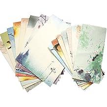 Zhi Jin 48 pcs Retro estilo chino escribir cartas papelería papel y sobres Set papel de