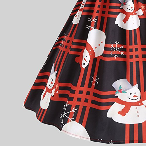 iBaste Vestito stampato di Natale delle donne del merletto 5
