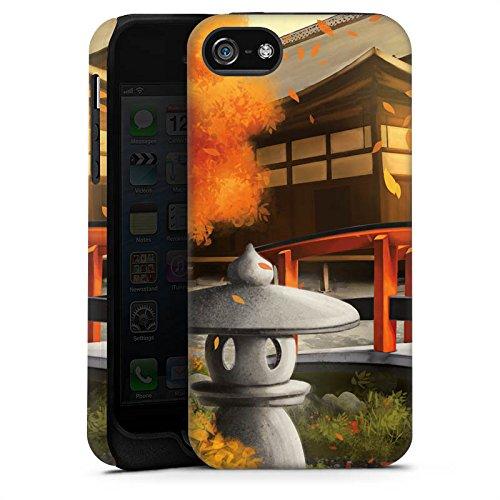 Apple iPhone X Silikon Hülle Case Schutzhülle Japanischer Garten Brücke Japan Tough Case matt