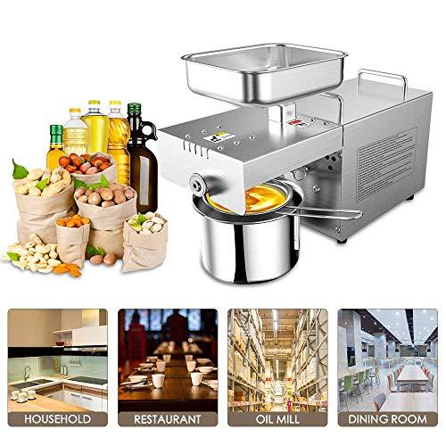 InLoveArts 600W klassische Ölpresse automatischer Ölextraktor für gewerbliche Haushalte, Heiß- und Kaltpressen