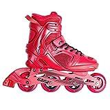 SPOKEY GARA RED Inline Skates  Kinder  Damen  Herren  Inline Blades  ABEC7 Karbon  Aluminiumschiene  Größen 39-47, Größe/Size:40