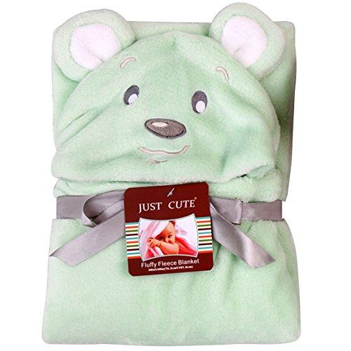Missbleu Sortie de Bain a Capuche Animaux-Peignoir de Bain Bebe Serviette Couverture Drap de Bain Bebe Ours Vert