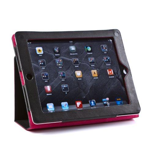 FEYNSINN Tablet-hülle mit Display-Ständer Leder iPAD Cover Damen iPad-Tasche echte Lederhülle Damen schwarz