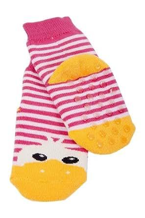 Weri Spezials Kinder Voll-ABS Socke Enten Motiv in Rosa Gr.27-30 (5-6 Jahre))
