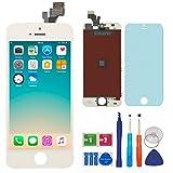 BBSELL LCD Pantalla Táctil Reemplazo De Marco Digital Un Conjunto Completo De Herramientas y Montaje Pantalla De Vidrio Protector Para IPhone 5 4.0″ (Blanco)