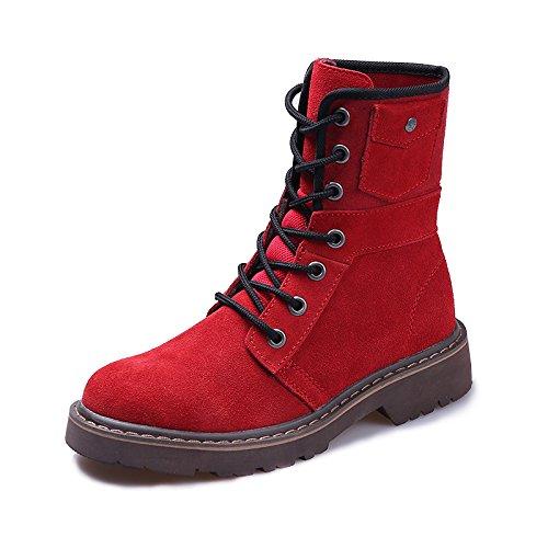 Heart&M Autunno/inverno nuovo tasca piatta tooling locomotiva amante di Joker che Martin stivali e scarpe casual confortevole a
