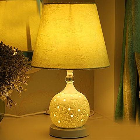 Al estilo europeo de América escandinava minimalista moderno de la sala de estudio dormitorio lámpara de cabecera de cerámica (rendimiento energético A +) ( Color : B