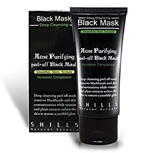 black mask schwarze acne purifying peel off aktivkohle maske mitesser pickel akne entferner. Black Bedroom Furniture Sets. Home Design Ideas