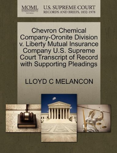 chevron-chemical-company-oronite-division-v-liberty-mutual-insurance-company-us-supreme-court-transc