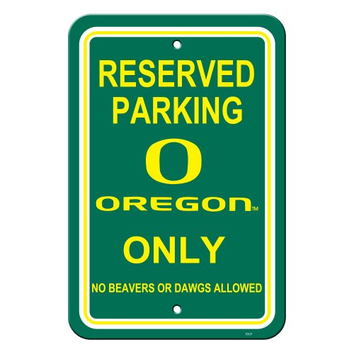 Fremont Die NCAA Unisex Straßenschild, Unisex, Reserved Parking Sign, 12 x 18-Inch -