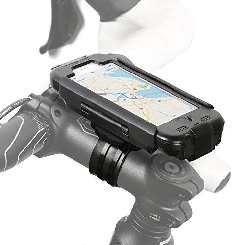 Wicked Chili RainCase 3.0 Fahrrad Halterung für Apple iPhone 6s/6 (Extra Stabile Bike Mount Hülle, Wasserdicht Nach IPx4 Standard, Touch ID Folie, mit Ladekabel und Kopfhörer Anschluss) Schwarz