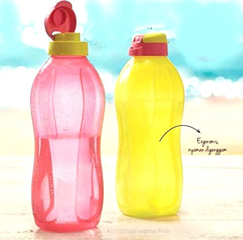 Buycrafty Tupperware - Botellas de agua de 2 litros con tapa abatible, dispensador de agua fría, 1 unidad