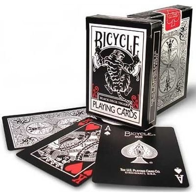 Cartas Bicycle black tiger rojo y blanco