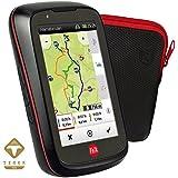 Falk Fahrrad GPS Navigationsgerät kapazitives Display 25 Länder Fahrradhalterung, schwarz/rot, 240036