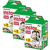 Fuji Instax Mini Film Couleur Twinpack 7S 8 90 50 appareils Photo Fujifilm 60 Photos