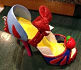Parques de Disney Nieve Blanco Zapato Figura Adorno Disney
