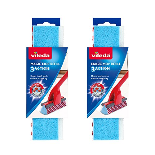Vileda Magic Mop 3 Action Ersatzwischer, blau, 2er-Pack
