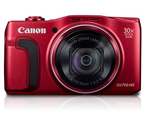 Canon SX710 HS 20.3MP Point and Shoot Digital Camera (Red) with 30x Optical Zoom