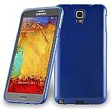 Cadorabo Coque pour Samsung Galaxy Note 3 Neo en Bleu - Housse Protection Souple en Silicone TPU avec Anti-Choc et Anti-Rayures - Ultra Slim Fin Gel Case Cover Bumper