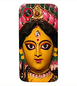 Fuson 3D Printed Lord Durga Designer Back Case Cover for LG Google Nexus 5 - D508