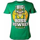Super Mario Bros - T-Shirt Super Mario: Big Boss Browser Green (L) [Importación Francesa]