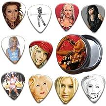 Christina Aguilera Boite Rangement pour Médiator & Pack de 10 Médiators ( Ltd. To 100 )