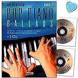Pop Piano Ballads Band 3-40 besten Ballads leicht bis mittelschwer arrangiert für Klavier - Songbook mit 2 CDs und mit bunter herzförmiger Notenklammer - Musikverlag Hage - EH3859-9783866262751
