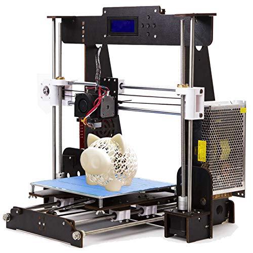 PrinThink A8 3D Drucker Bausatz, Upgradest High Precision MK8 Düse 220 * 220 * 240mm Druckergröße mit 1.75mm Filament DIY Prusa 3D Drucker Kit (Aviation Holzrahmen)