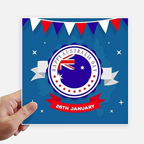 n Flavor Happy Australia Day Flag Stickers 20Cm Wand Koffer Laptop Motobike Aufkleber 4Pcs 20Cm X 20Cm Mehrfarbig ()