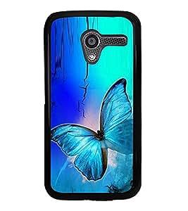 Fuson Premium 2D Back Case Cover Colourful Butterfly With Yellow Background Degined For Motorola Moto X XT1058::Motorola Moto X (1st Gen)