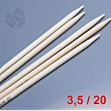 LANA GROSSA Nadelspiel Bambus, Länge 20 cm / Stärke 3.5