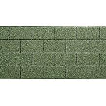 Teja Bituminosa granigliata para tejado, verde