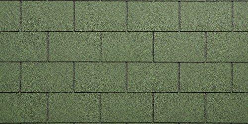 Dachziegel Bitumen granigliata für Dächer, grün
